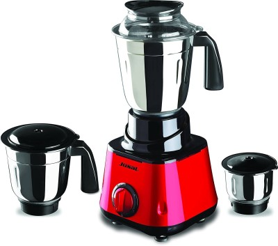 Jusal Pro Galaxy 600 600 W Juicer Mixer Grinder(Red and Yellow, 3 Jars)