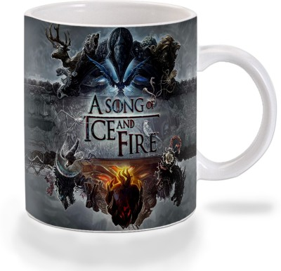 Mooch Wale Game Of Thrones A Song Of Ice And Fire Ceramic Mug(325 ml)  available at flipkart for Rs.299