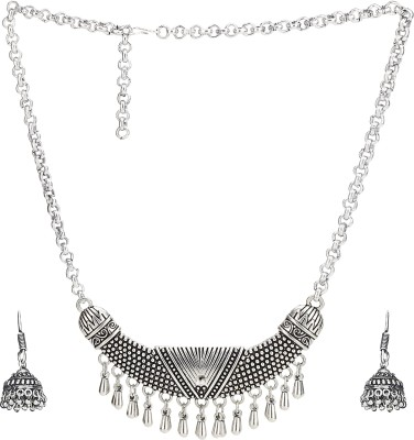 ece258809db4a0 62% OFF on NAWAB german silver boho tribal look vintage style necklace set Alloy  Necklace Set on Flipkart | PaisaWapas.com
