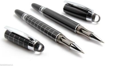 LEDOS Pack Of 3 - Dikawen 201 Pioneer Luxury Rollerball Pen Gold Mesh Cap New Roller Ball Pen(Pack of 3)