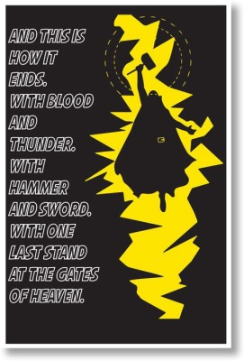 SUPERHERO WITH hammer Paper Print(18 inch X 12 inch, Rolled)  available at flipkart for Rs.149