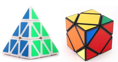 Mayatra's Shengshou High Speed Magic Puzzle & QiYi Skewb Cube & Pyraminx Speed White Cube Combo  (2 Pieces)(2 Pieces)  available at flipkart for Rs.749
