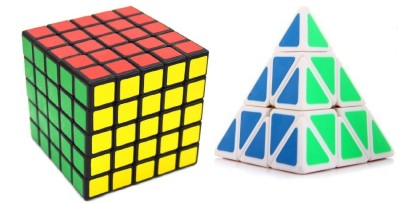 Mayatra's Shengshou 5x5 Puzzle Cube Black & Pyraminx Speed White Cube Combo  (2 Pieces)(2 Pieces)  available at flipkart for Rs.999