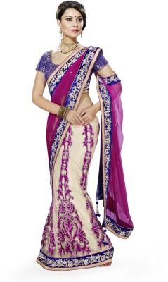 MAHOTSAV Self Design Fashion Cotton Blend Saree(Multicolor) at flipkart