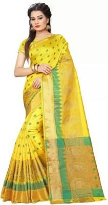 Stylish Sarees Self Design, Woven Banarasi Poly Silk Saree Multicolor