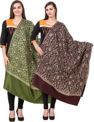 Hardys Pure Wool Self Design Women Shawl(Multicolor)
