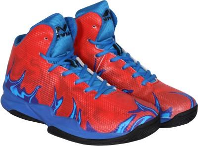 Nivia Phantom Basketball Shoes For Men(Red, Blue)  available at flipkart for Rs.1199
