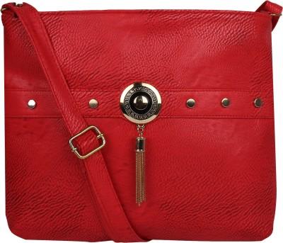 AARAV FASHION Women Maroon PU Sling Bag  available at flipkart for Rs.299