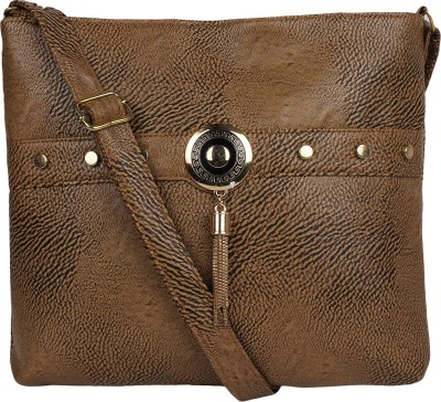 AARAV FASHION Women Brown PU Sling Bag  available at flipkart for Rs.299