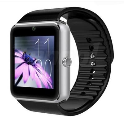 MOBILE LINK Aqua Mobile Phones Compatible silver Smartwatch(Silver Strap Regular)