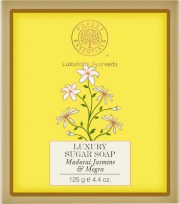 Forest Essentials Jasmine & Mogra Luxury Sugar Soap, 125 GM