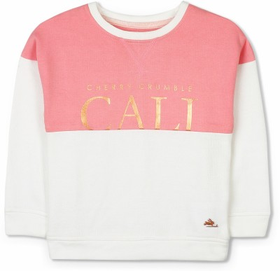 Cherry Crumble California Full Sleeve Printed Girls Sweatshirt at flipkart
