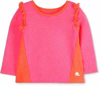 Cherry Crumble California Full Sleeve Solid Girls Sweatshirt at flipkart