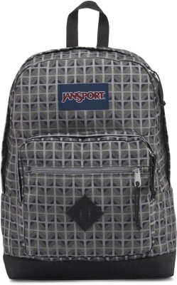 JanSport City Scout Muted Green Window Pane 31 L Backpack(Green)