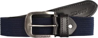 SCHARF Men Multicolor Canvas, Genuine Leather Belt