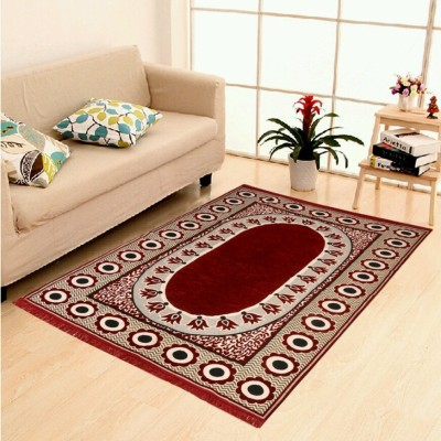 The Real Time Trendz Maroon Polypropylene Carpet(150 cm  X 210 cm) at flipkart