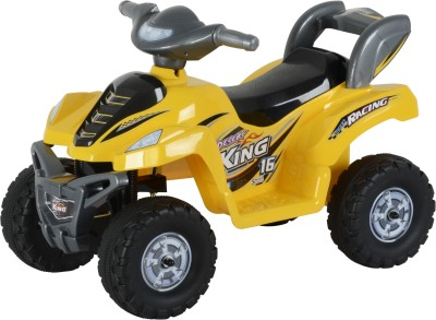 Toyhouse Desert King Small ATV Bike 6V Rechargeable Bike Battery Operated Ride On(Yellow) at flipkart