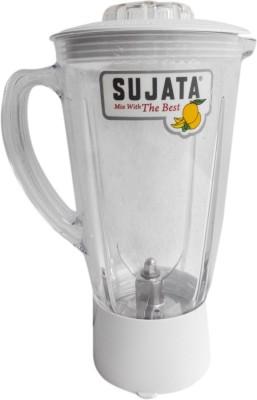 Sujata Dynamix Plastic Blender Jug 810 W Juicer Mixer Grinder (1 Jar, White)
