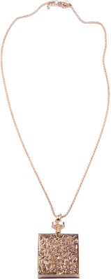 Fully Pendants Necklaces For Women Party Wear … 18K Rose Gold Diamond, Cubic Zirconia Rose Gold, Alloy Pendant Set