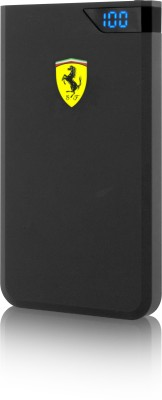 Ferrari 5000 mAh Power Bank (SW-764, POWER BANK LCD NEW 5000 MAH Dual USB Port – BLACK)(Black, Lithium Polymer) at flipkart