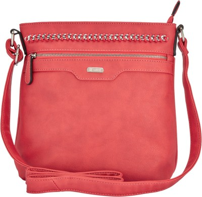 280b005f850 16% OFF on Lavie Women Red PU Sling Bag on Flipkart