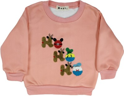 Icable Full Sleeve Printed Baby Girl's Sweatshirt
