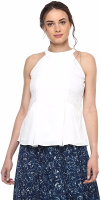 Soie Casual Sleeveless Solid Women