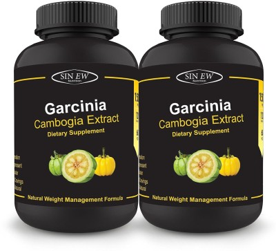 Sinew Nutrition Garcinia Cambogia Extract -(120 Capsules - Pack of 2) 1500 mg Per Serving, 100 % Veg, Pure & Natural Weight Management & Appetite Suppressant Supplement(1500 mg)