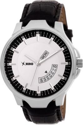 Xeno Latest Fashionable Black Blue Designer Combo New Look Stylish Titanium Day Date Boys Watch  - For Men