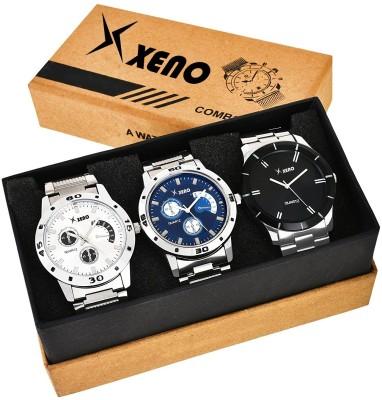 Xeno ZD-002-005-043 Metal Chronograph Triple Combo New Look Fashion Stylish Titanium Boys & Gents Watch  - For Men