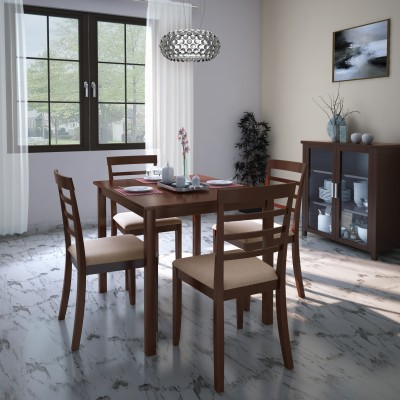 Perfect Homes by Flipkart Fraser Engineered Wood 6 Seater Dining Set(Finish Color - Walnut)