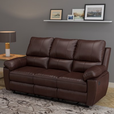 @home by Nilkamal Half-leather Manual Recliners(Finish Color - Brown) at flipkart