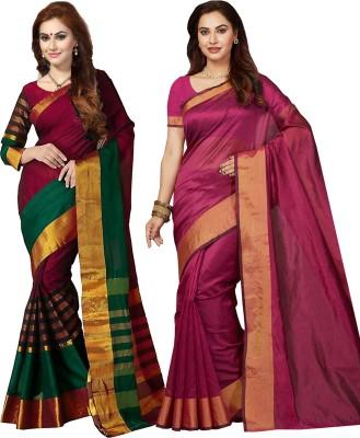 43c42d4056 Ishin Printed Bollywood Art Silk Saree(Pack of 2