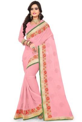 3f20b3637c Kedar Fab Embroidered Bollywood Faux Georgette Saree(Multicolor)