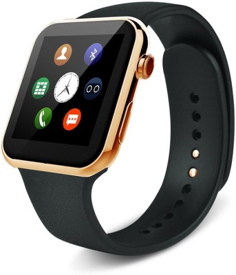 SYL Presenting Bluetooth Smartwatch with Sim- Card Support Compatible with samsun.g, Gold Smartwatch(Brown Strap Free Size)