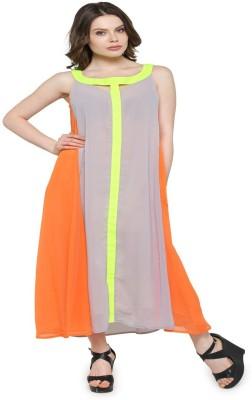 Inspire World Women Maxi Multicolor Dress