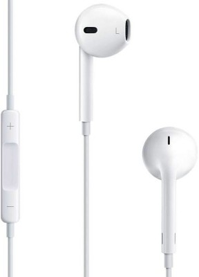 Blue Birds Headphones Wired Headset with Mic(White, In the Ear)