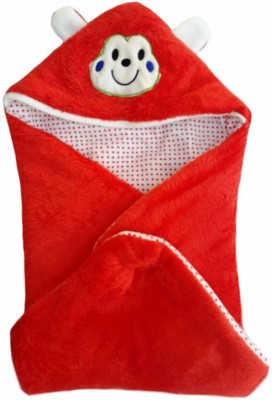 Brandonn HOODED FOAM FILLED WELCROW STICHED SAFETY BAG Sleeping Bag(Red)