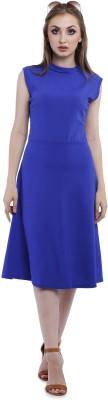 Addyvero Women A-line Blue Dress
