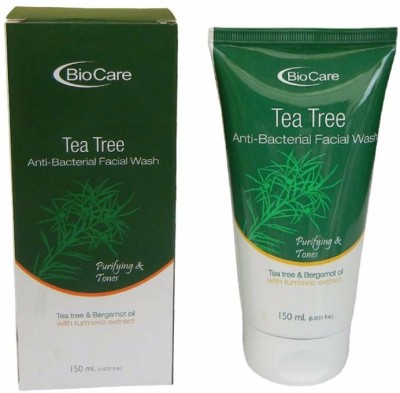Biocare Anti Bacterial Tea Tree With Turmeric Extract Face Wash(150 ml)  available at flipkart for Rs.173