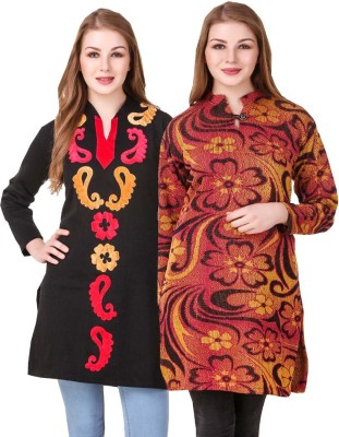 BACARDI HOUSE Festive & Party Self Design, Floral Print Women