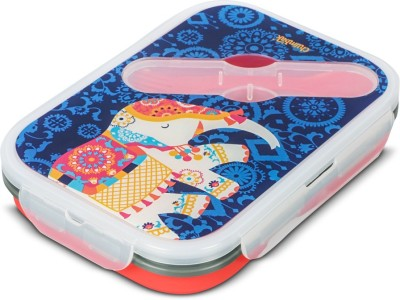 Chumbak Regal Elephant 2 Containers Lunch Box(600 ml) at flipkart