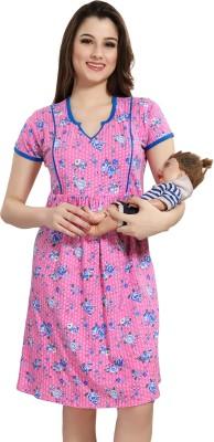 AV2 Women Maternity/Nursing Nighty(Pink)