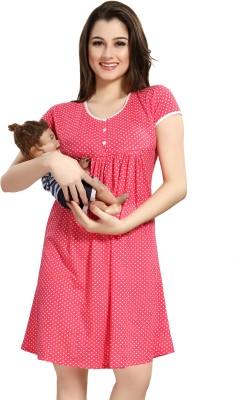 AV2 Women Maternity/Nursing Nighty(Red)
