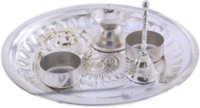 JPearls Special Instant Puja Thali Silver Plated Pooja & Thali Set(6 Pieces, Silver)  available at flipkart for Rs.899