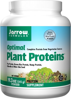 Jarrow Formulas Optimal Plant Proteins - 19.3 Oz 545 gm Plant-Based Protein(545 g, unflavour)