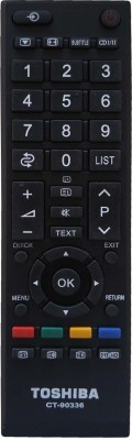 LipiWorld CT-90384 LCD LED TV Universal Compatible For Toshiba LED LCD Remote Controller(Black)