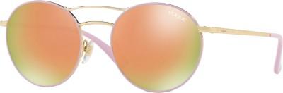 Vogue Round Sunglasses(Golden)