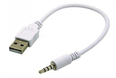 ReTrack AUXAudio Plug Jack 3.5mm To USB 2.0 Male Charge Cord For USB Adapter(White)