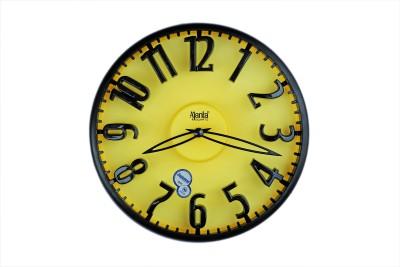 ajanta orpat Analog 28 cm X 28 cm Wall Clock(Black, With Glass)
